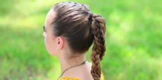 Tết tóc đẹp kết hợp với buộc tóc phía sau