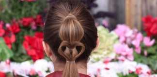 Cách búi tóc đính trái tim đơn giản