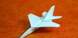 Cách gấp máy bay F16 đơn giản