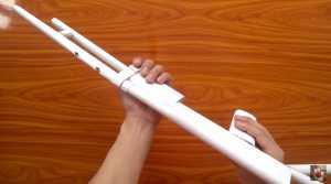Cách làm súng shotgun giấy bắn đạn dây chun