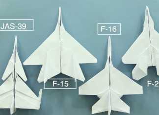Cách gấp máy bay giấy F22 Origami