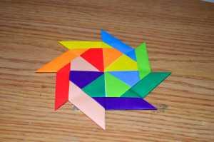 Cách gấp phi tiêu ninja 8 cánh theo phong cách gấp giấy Origami