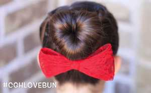 Xinh xắn với kiểu tóc búi trái tim đẹp mắt