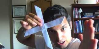 Cách gấp boomerang 4 cánh bằng giấy