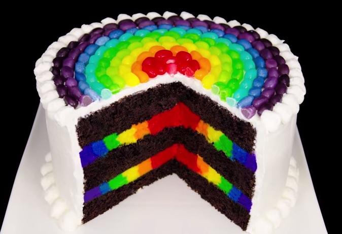 Cách làm bánh kem sinh nhật 7 sắc cầu vồng