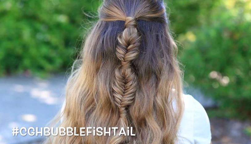 Biến tấu mới mẻ cho kiểu tóc tết đuôi cá