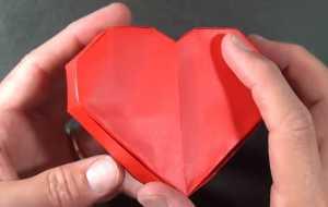 Cách gấp hộp quà giấy Origami hình trái tim