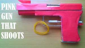 Cách làm súng lục giấy Glock18 bắn đạn chun