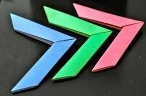 Cách gấp boomerang bằng giấy theo phong cách xếp giấy Origami
