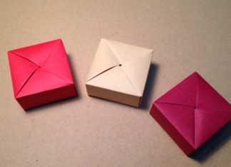 Cách gấp hộp quà Origami hình vuông