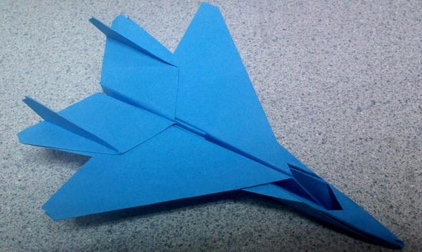 Cách gấp máy bay F15 bằng giấy