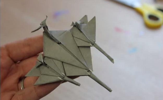 Cách gấp chiến đấu cơ Fighter plane bằng giấy