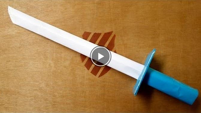 Cách làm thanh kiếm đồ chơi bằng giấy