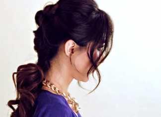 Búi tóc updo thật đẹp dành cho mái tóc dài trung bình