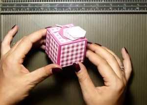 Cách làm hộp quà dễ thương hình lập phương