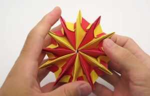 Cách xếp pháo hoa độc đáo theo phong cách Origami