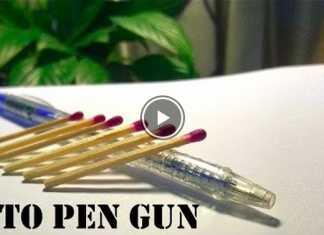 Cách làm súng bắn diêm tự động từ bút bi