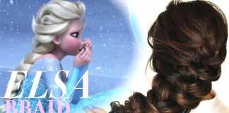 Cách tết tóc rối như nàng công chúa tuyết Frozen Elsa