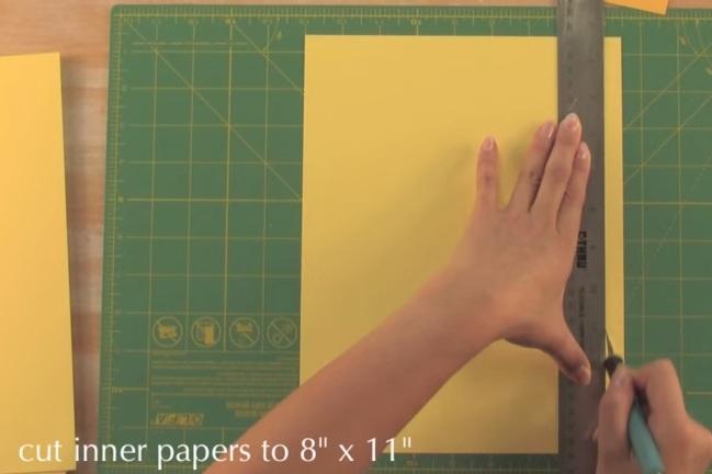 Cách làm cuốn sổ xinh xinh và độc đáo