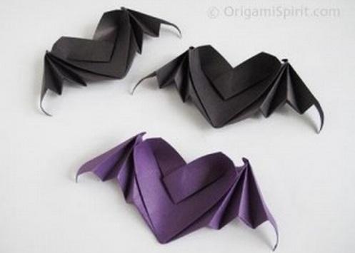 Cách gấp trái tim Origami có đôi cánh dơi