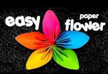 Cách gấp hoa anh đào ngũ sắc Origami bằng giấy