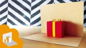 Cách làm thiệp sinh nhật 3D có hình hộp quà bên trong