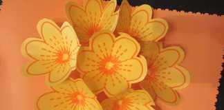 Làm thiệp sinh nhật gắn cánh hoa 3D độc đáo