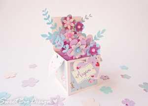 Làm thiệp 3D đính lãng hoa siêu đẹp