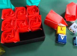 Cách gấp hộp hoa hồng Origami bắt mắt và thú vị
