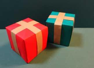 Cách gấp hộp quà giáng sinh origami cực cute