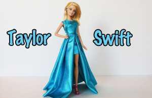 Cách may bộ váy của Taylor Swift tại Grammy 2015 cho búp bê