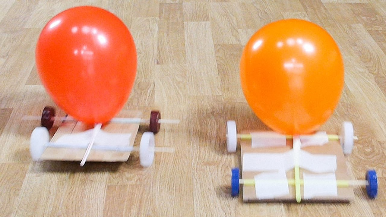 Cách làm ô tô đồ chơi chạy bằng quả bóng bay