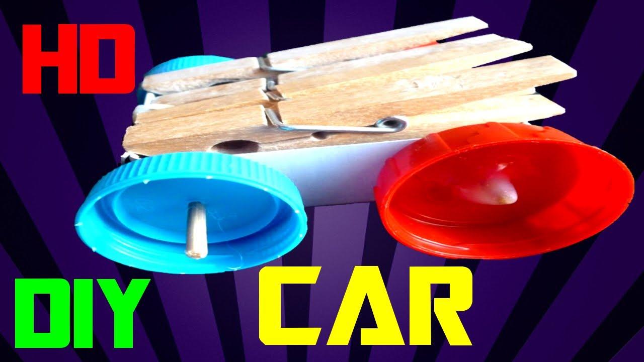 Làm ô tô đồ chơi đơn giản từ hộp diêm và nắp nhựa