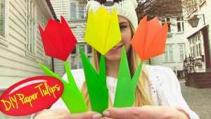 Gấp hoa tulip Origami