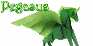 Cách gấp ngựa Origami Pegasus