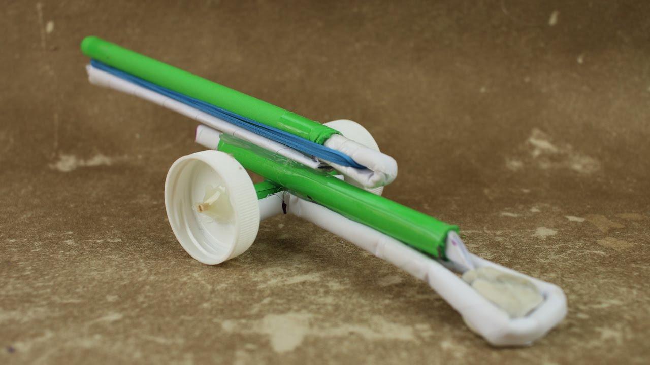 Cách làm khẩu đại bác đồ chơi bằng giấy