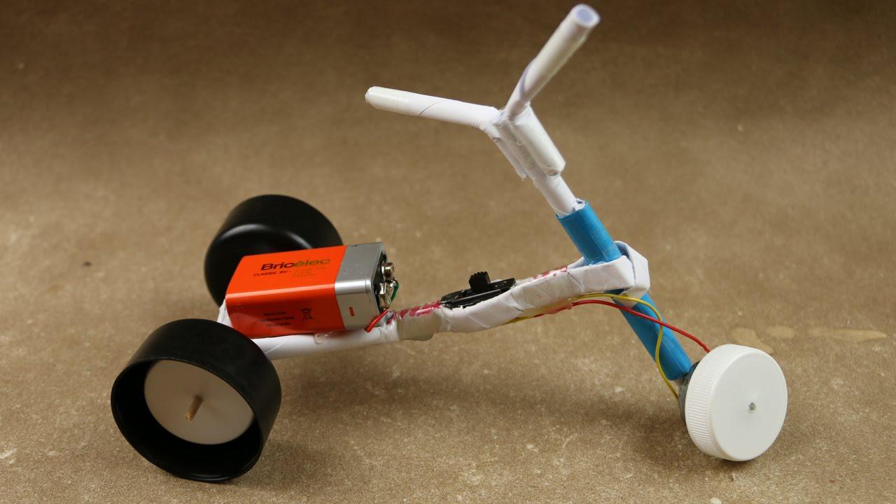 Cách làm xe đạp điện đồ chơi mini