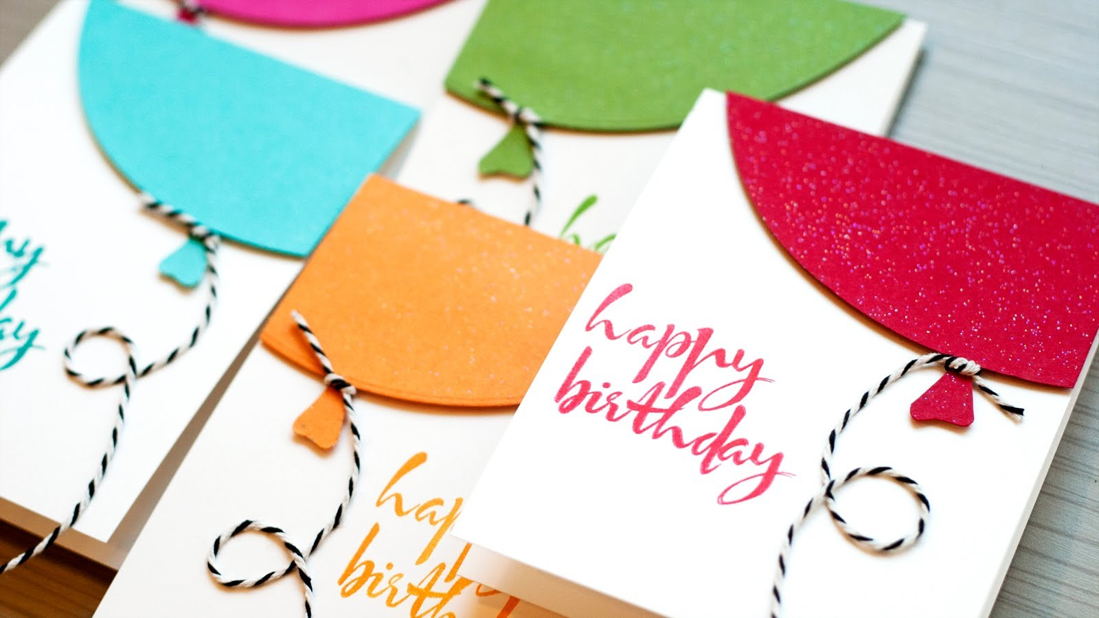 Cách làm thiệp sinh nhật hình bóng bay