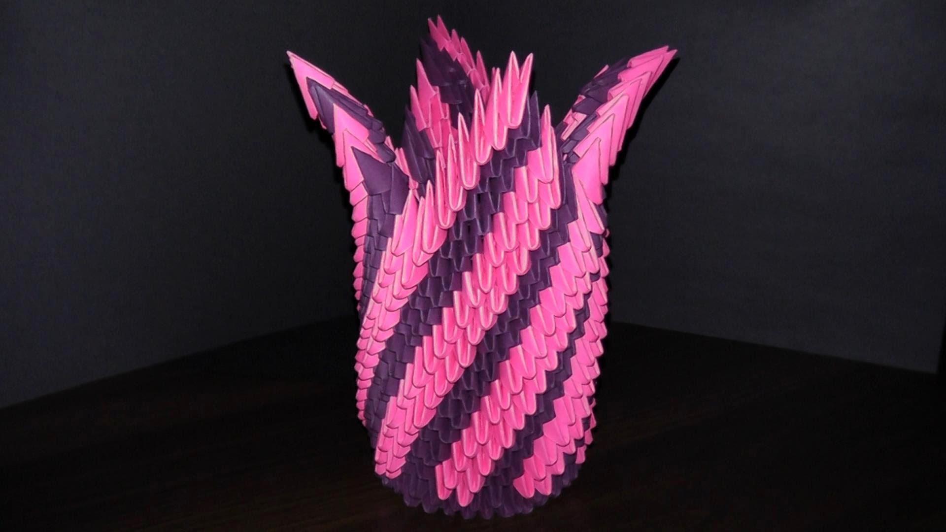 Вазочки из оригами