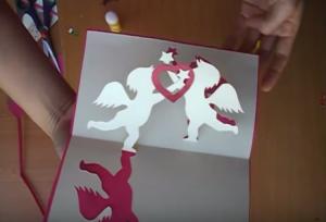 Cách làm thiệp 3D đính thần cupid