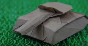 Cách gấp xe tăng Origami bằng giấy