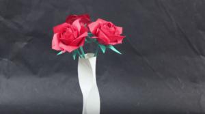 Cách xếp lọ hoa giấy theo phong cách Origami