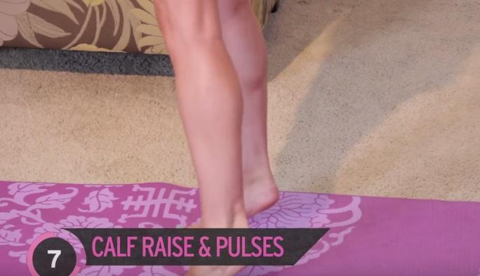 Bài thể dục làm nhỏ bắp chân