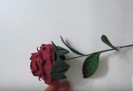 Cách xếp cành hồng origami hoàn chỉnh