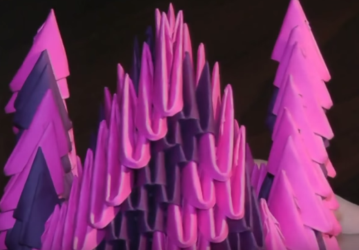 Gấp lọ hoa bằng giấy Origami 3D tuyệt đẹp