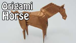 Cách gấp con ngựa Origami bằng giấy