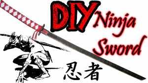 Cách làm chuôi kiếm ninja thực thụ