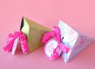3 cách làm hộp quà giấy hình tam giác