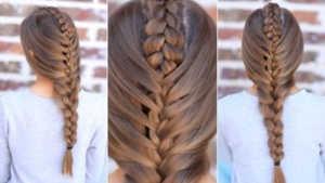 Cách tết tóc xuong cá kết hợp kiểu tết đuôi cá