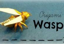 Cách gấp con ong bằng giấy